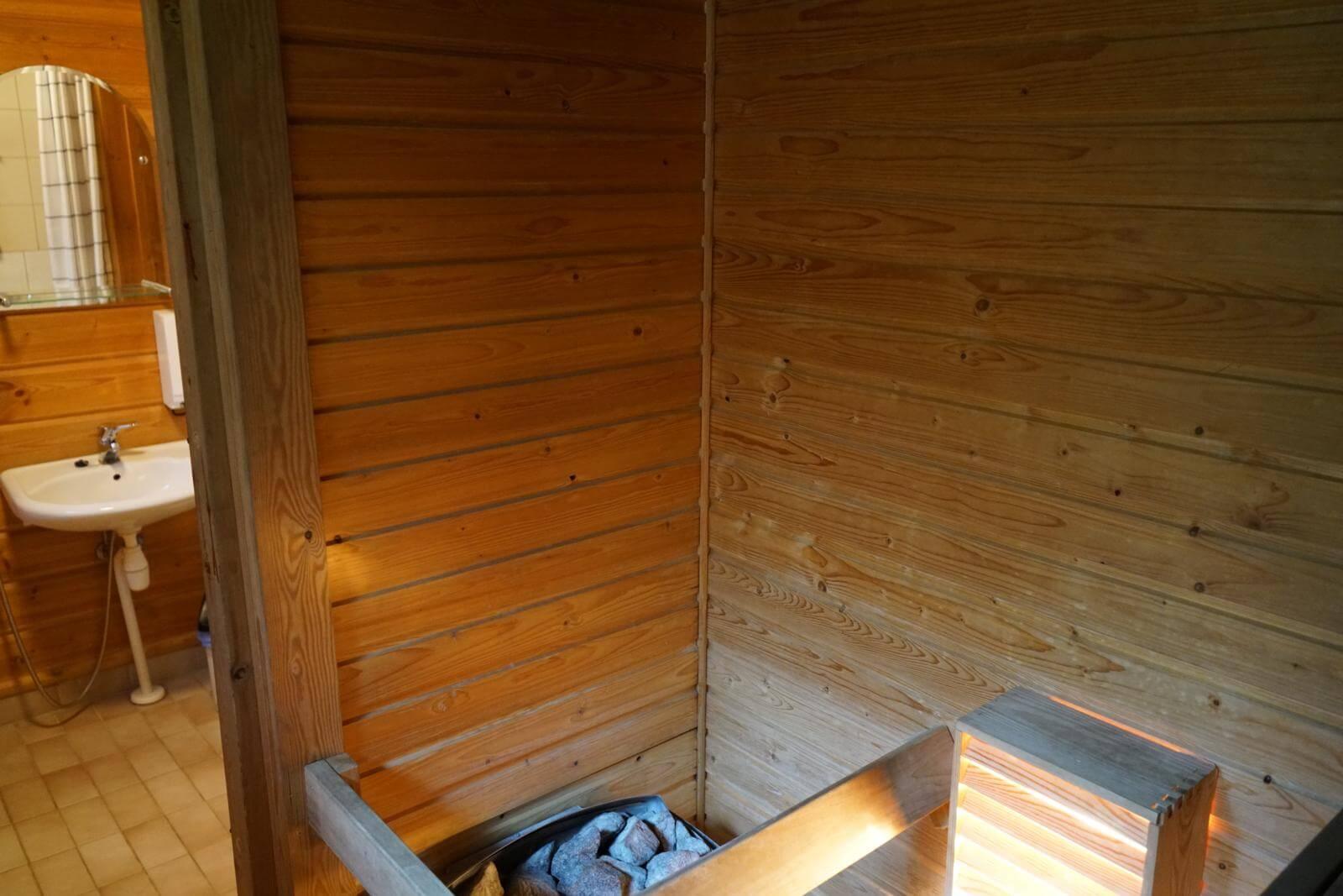 Tykkimäki Campingillä saunot mukavasti
