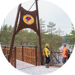 Repoveden kansallispuisto on suosittu retkikohde